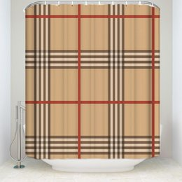 Shower curtainS bathroom online shopping - New Arrival Waterproof Classic Pattern Plaid Shower Curtain with Hooks Polyester Fabric Bathroom Curtains for Home Decorations