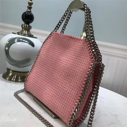 Camel leather tote online shopping - Classic rivet three chain diagonal hand bag is simply handsome x25 x5cm