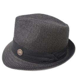 Chinese  EPU-MH1837 Stingy Brim Man and woman Breathing straw fedora Hat Ladies Street Fashion High Quality Trilby Jazz Hat casquette manufacturers