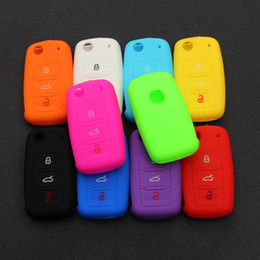 vw passat key silicone NZ - Hot Silicone Car Key Cover Case Shell Fob for VW Golf Bora Jetta POLO GOLF Passat Skoda Superb Octavia A5 Fabia SEAT Ibiza Leon