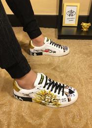 5ffdc0f2bcf 2018 En Cuir Véritable marque de luxe Nouveau Design Plat Haut de gamme  Chaussures Casual plus de types Sneakers Été Pour Hommes mode chaussures  TAILLE 38- ...