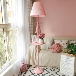 Girl Lamps For Bedroom 2018   Artpad Nordic Modern Floor Lamp Princess Pink  Fabric Lampshade Iron