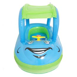 $enCountryForm.capitalKeyWord NZ - Child Inflatable Seat Float Sun Shade Cartoon Car Swimming Accessories Swim Pool Toy for 6M-36M Babies Toddler Kids