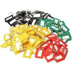 $enCountryForm.capitalKeyWord UK - Hot sale Plastic Keychain Luggage Key Tags 5 Style ID Label Name Key Tags Split Ring