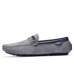 black boat dress shoes mens 2019 - Mens Casual Genuine Leather Boat Shoes Spring Summer Men Flat Driving Loafers Man Luxury Slip on Flats 25D50