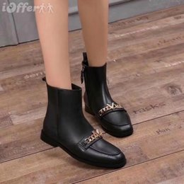 $enCountryForm.capitalKeyWord NZ - vvtisks5 SHOES BLACK LEATHER SUEDE FLAT NEW CHAIN ANKLE BOOTS Women Pumps Loafers Ballerina Flats Espadrilles Wedges Sneakers Boots Booties