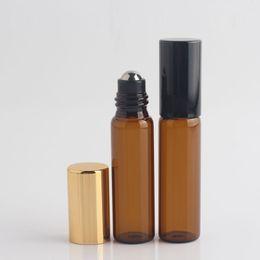 roller ball glass vials 2019 - 1ml 2ml 3ml 5ml 10ml Thin Glass Roll on Bottle Sample Test Roller Essential Oil Vials with Stainless Steel Glass Ball ch