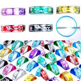 $enCountryForm.capitalKeyWord NZ - 500pcs Jewelry Mix Fashion Aluminum Rings Bulks Multicolor Band Rings Finger Rings Jewelry RA03