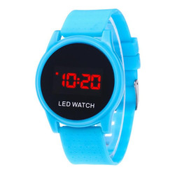 $enCountryForm.capitalKeyWord UK - New round face mens women unisex students sport digital LED watches ladies touch screen sunglasses design bracelet wrist watches
