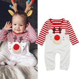 Santa Claus Girls Jumpsuit Australia - Autumn and Winter Baby Romper 2018 New Santa Claus Boy Girls Baby Clothes Rompers Long Sleeves Stripe Christmas Infant Jumpsuit Y18102907