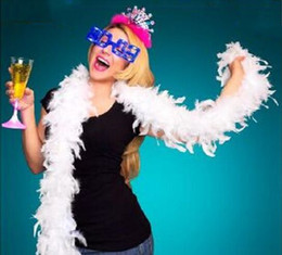 Chandelle Feather Boas Wholesale Australia - Pink Chandelle Feather Boa 200cm pcs Wrap Burlesque Can Can Saloon Sexy Costume Accessory Turkey Marabou Feather Boa Many Colors