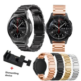 SamSung gear S3 watch online shopping - stainless steel watch band strap for samsung gear s3 frontier for gears s3 classic smart watch bracelet with adjusting tool