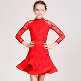 $enCountryForm.capitalKeyWord Canada - 4Color Children Kids Girls Latin Dance Dress Salsa Tango Cha cha Ballroom Competition Samll High Collar Long Sleeves Lace Dance Dress