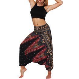$enCountryForm.capitalKeyWord UK - Summer NEW Fashion Women Casual Bohemian Summer Loose Yoga Trousers Baggy Boho Aladdin Jumpsuit Harem Pants Wholesale Freeship