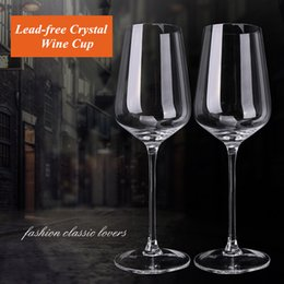 Led Crystal Bubble Australia - European Handmade Transparent 100ml Goblet Wine glass Bordeaux Bubble Originality transparent Lead-free Crystal Glass
