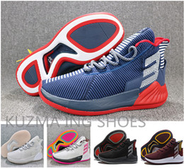 d1978a0fc6d49 Zapatillas de baloncesto de alta calidad para hombre 9 D Rose 9S Azul rojo  gris Blanco zapatillas de deporte de rebote zapatillas de deporte