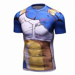 62720d026 Vegeta Shirt Z t shirt Cosplay Tee T-shirt Custome Fitness Male short Sleeve  Basketball Jerseys