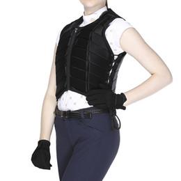 Черный взрослый Райдер безопасности Equestrain Верховая езда Жилет Защитный протектор тела JACKET Гонки Оборудование Paardensport Cheval C