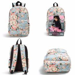 $enCountryForm.capitalKeyWord Canada - Women Canvas Backpacks For Teenage Girls Travel Rucksack Fashion School Bags For Girls Floral Printing Backpack Women