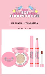 colorful lipstick brands NZ - 3CE Eunhye House Brand Lips Pencil Foundation Air Cushion Cream Lasting&Waterproof Colorful Lipstick Pencil Cosmetic Makeup Set