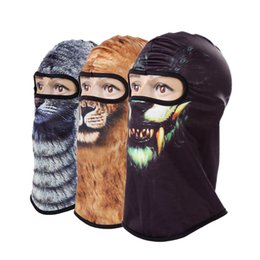 5270b324ddb 3D Cat Dog Animal Balaclava Bicycle Bike Snowboard Party Skullies Beanie  Helmet Liner Winter Hat Warmer Full Face Mask Women Men