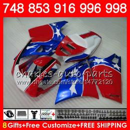 Star compreSSion online shopping - Kit For DUCATI HM55 SR Blue stars red Fairing