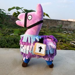Free plush horse online shopping - Fortnite plush dolls Stash Llama Figure Soft Stuffed Horse Animal Cartoon Toys Action Figure Toys Children Gift cm inches