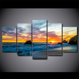 art canvas prints Australia - 5 Piece Canvas Art HD Print Home Decor Sunrises Sky Natur Paintings For Living Room Wall Poster Picture Free Shipping UP-2290C