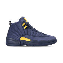 1319e0ea435c 2018 cheap 12 12s mens basketball shoes Michigan BQ3180-407 men Athletic shoe  trainers sports sneakers size 7-13 on sale