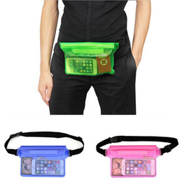 swimming belts NZ - New Waterproof Waist Bag Transparent PVC Pouch Stitch Underwater Travel 3 Layer Sealed Pocket Outdoors Drift Swimming Pack Waist Belt Bag