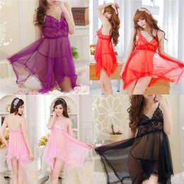bc9121870 New Style Women Sexy Lace Bow Underwear Temptation Babydoll Racy Sleepwear Dress  Fancy Erotic Lingerie Wolovey 20 S918