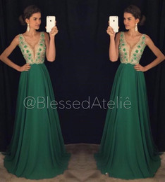 $enCountryForm.capitalKeyWord Canada - A Line Green Beaded Crystal Chiffon Sleeveless Sexy Simple Open Back Beautiful Evening Dresses Prom Dress New Coming