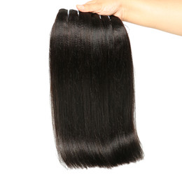 Discount unprocessed virgin kinky straight hair - New Arrival Yaki Straight Human hair Bundles Brazilian Kinky straight virgin human hair deals 8a unprocessed yaki hair 3