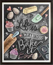 Taladro completo 5d Diamond Painting -Kitchen Cake- Arts Craft para el hogar Decoración de pared regalo DIY kits de pintura del diamante en venta
