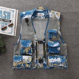 Wholesale black multi pocket vest for sale - Group buy Unloading for Photographers Vest Men Sleeveless Jacket Multi Pockets Mesh Summer Waistcost Casual Black Tool Vest