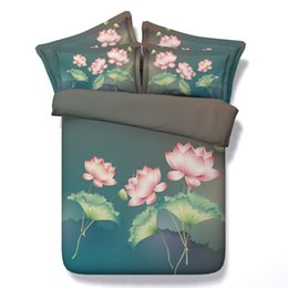 Floral Bedding Sets NZ - 3D galaxy Duvet Cover green lotus bedding sets queen floral Bedspreads Holiday Quilt Covers Bed Linen Pillow Covers comforter cover bedcloth