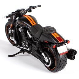 Wholesale Maisto VRSCDX NIGHT ROD SPECIAL motorcycle diecast black orange motorbike model motorcycle model as present