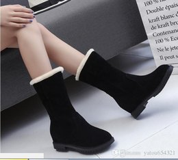 Discount med hair - 2019 new style women snow boots in autumn and winter flat bottomed hair cotton shoes students' boots