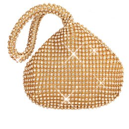 Ladies Evening Handbags Australia - Rhinestones Women Clutch Bags Finger Ring Ladies Vintage Evening Bags Crystal Wedding Bridal Handbags Purse Holder