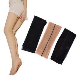 $enCountryForm.capitalKeyWord UK - Women Back Seam Sexy Stockings Female Black Skin Thigh High Stocking Ultra Thin Transparent Pantyhose