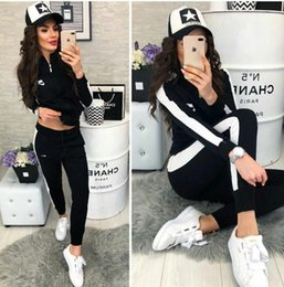 TracksuiTs for women online shopping - Autumn Winter Two piece Tracksuit Jogging Suits For Women Sport Suits cardigan Hooded Running Sets Sweatshirts jackes and Pants