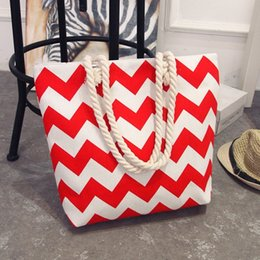 Stripe canvaS tote beach bagS online shopping - 2018 Casual Women Floral Large Capacity Tote Canvas Shoulder Bag Shopping Bag Beach Bags Casual Tote Feminina
