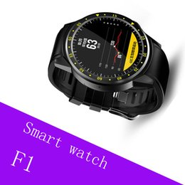 smartwatch heart rate gps UK - F1 Sports Smartwatch 1.3 inch MTK2503 Dual Support SIM TF Card Bluetooth GPS Beidou Camera Heart Rate Sleep Monitor Smart Watch