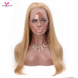 $enCountryForm.capitalKeyWord NZ - Remy Queen 27# Strawberry Blonde Straight Full Lace Wig 100% Human Hair 130% Medium Density Nautral Hairline With Baby Hair Bleached Knots
