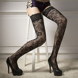 3e059f71078 Hot Black Womens Sheer Lace Top Stay Up Thigh High Hold-ups Stockings  Pantyhose