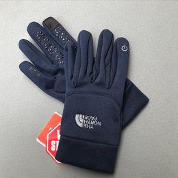 Hot TN FMen mujeres montañismo vellón terciopelo deporte de ciclismo al aire libre para mantener cálido toque bordado guantes de pantalla táctil de esquí