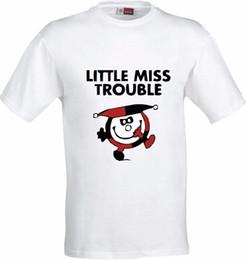 2b032f47 T Shirt Sublimation Australia - LITTLE MISS TROUBLE FUNNY FULL COLOR  SUBLIMATION T SHIRT