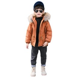 b6aa62dc71bf New Baby Boys Winter Thick Warm Coat Kids Fur Hooded Casual Jacket Kids  Outerwear Down Cotton-Padded School Winter Coats