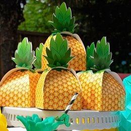 100Pcs / lot Ananas dolce Caramelle regalo di Natale festa di nozze favorisce estate Pool Beach Party Decorazioni da tavola