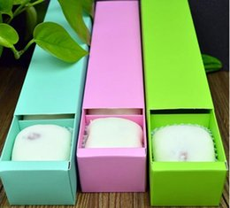 mooncake package boxes 2019 - Solid Color 4 Grid Macaron Box Bakery Box for Biscuits Cookie Mooncake Packaging Paper Gift Boxes discount mooncake pack